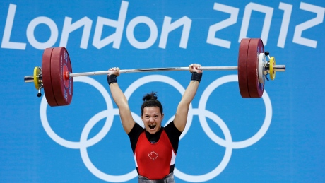 Christine Girard won bronze in the women's 63kg weightlifting division at the 2012 Olympics in London.