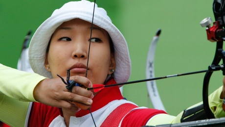 Russia's Inna Stepanova is one of three archers who will compete in the upcoming Olympics.