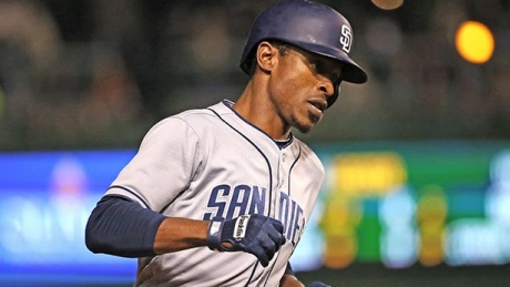 CHICAGO, IL - MAY 10: Melvin Upton Jr. #2 of the San Diego Padres runs the bases after hitting a solo home run in the 4th inning against the Chicago Cubs at Wrigley Field on May 10, 2016 in Chicago, Illinois.